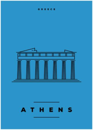 Athens illustration poster