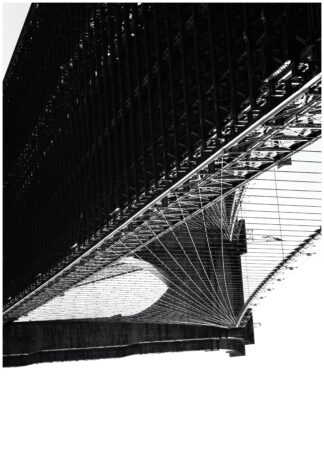 Brooklyn bridge upside down poster