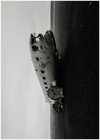 Fuselage black and white poster