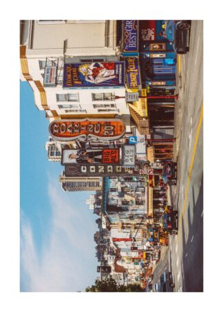 North Beach district on a sunny day poster