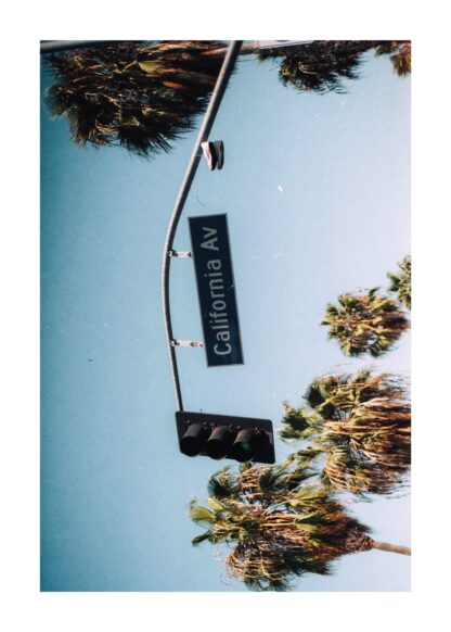 Vintage california sign poster