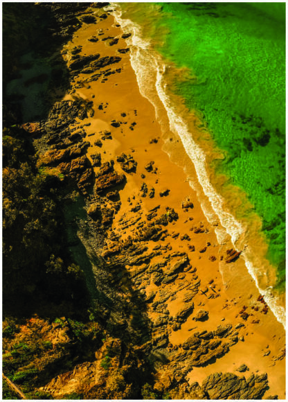 Aerial View of Beach Poster